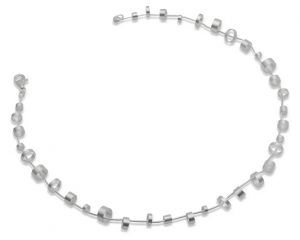 silver ringlet necklace