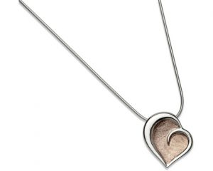 Sterling Silver Rose Gold Plate Heart Pendant Item UNQ-MK-464 | nichellejewellery.com