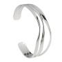 Silver Torque Bangle Item STQB3N | nichellejewellery.com